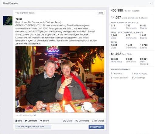 Facebookresultaten Camera van Texel