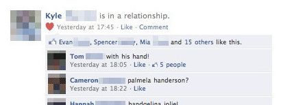 Facebookstatus loopt uit de hand...
