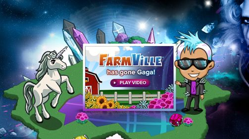 FarmVille niet veilig voor Gaga: marketing meets...more marketing