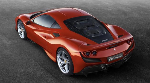 Ferrari F8 Tributo back
