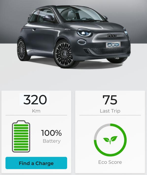 Fiat new 500-e app