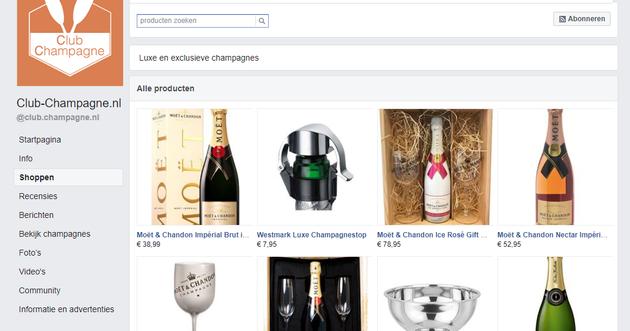 Figuur 5 - Facebook shop op je Facebook bedrijfspagina