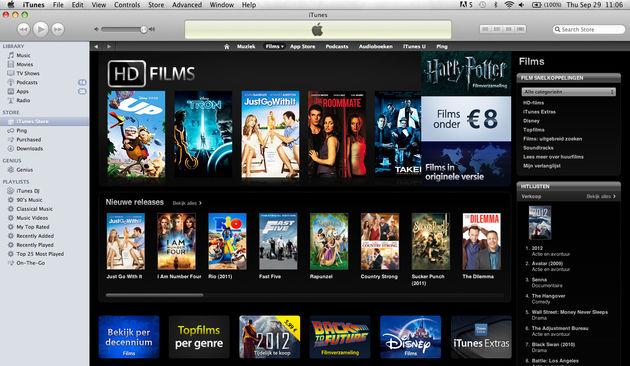 Films huren via iTunes
