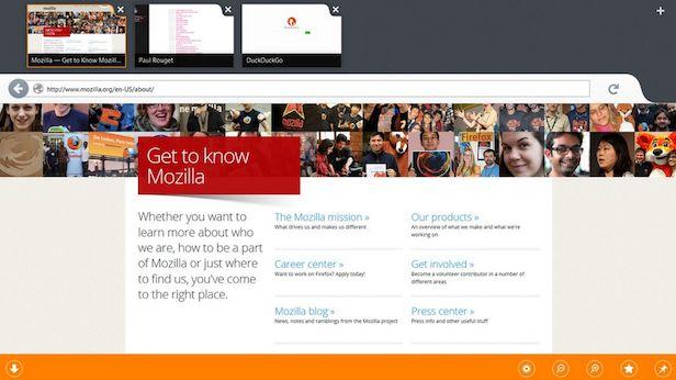 Firefox voor Windows 8 met touch-ondersteuning verkrijgbaar