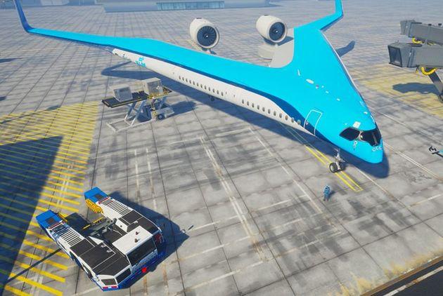 flying-V-airplane-TU-delft-KLM-designboom-07-e1559582717240