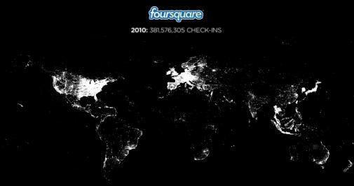 Foursquare in 2010 [Infographic]