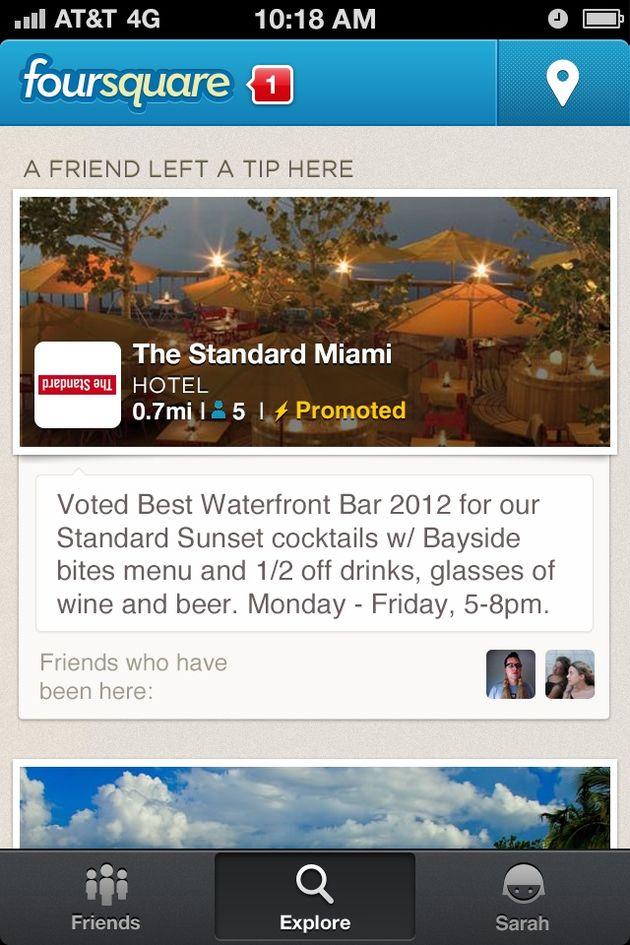 Foursquare lanceert promoted updates