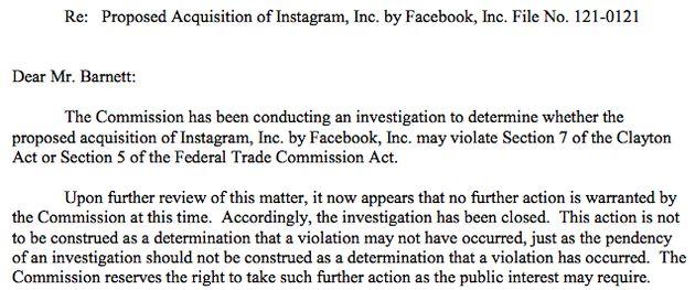 FTC keurt overname Instagram door Facebook goed