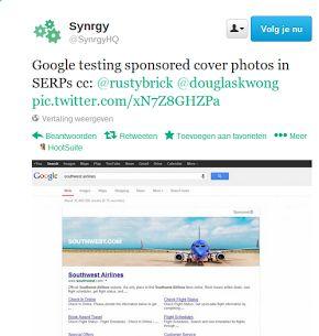 Gaat Google pagina brede banners plaatsen boven zoekresultaten?