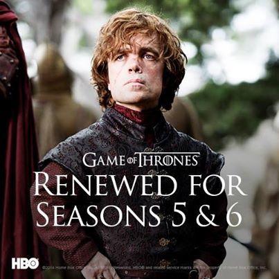 Game of Thrones krijgt ook een vijfde en zesde seizoen