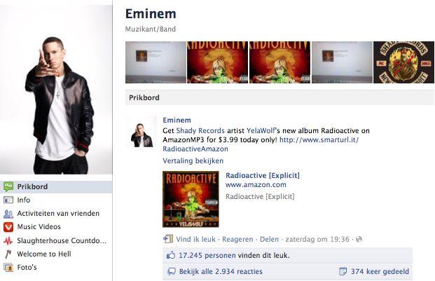 Gebruik van Facebook door muzikanten in 2011 [Infographic]