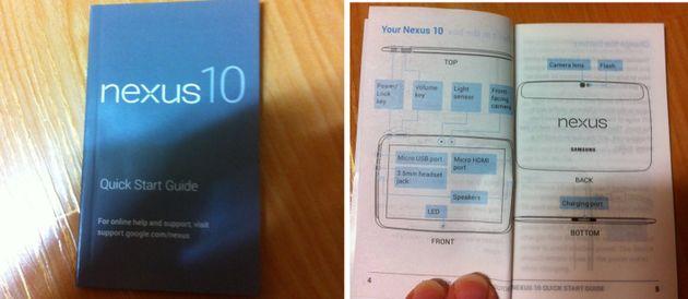 Gebruikershandleiding Nexus 10 uitgelekt