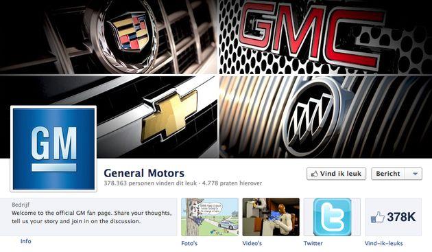 General Motors stopt met adverteren op Facebook