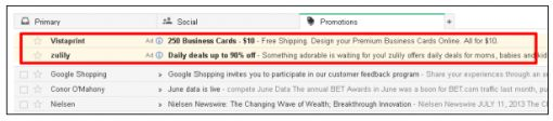 gmail tab email advertenties