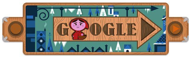 Google Doodle ter ere van de Gebroeders Grimm