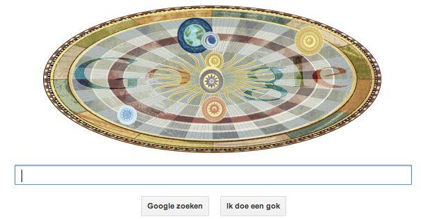 Google Doodle ter ere van Nicolaus Copernicus