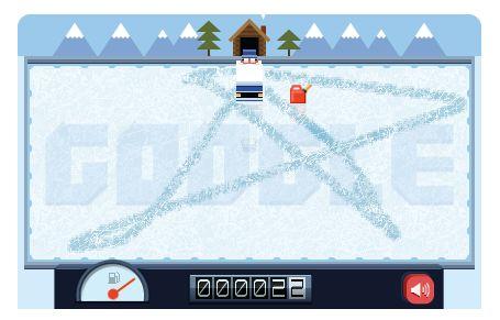Google Doodle van Frank Zamboni, de uitvinder van de ijsdweilmachine
