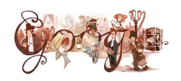 Google Doodle voor Charles Dickens