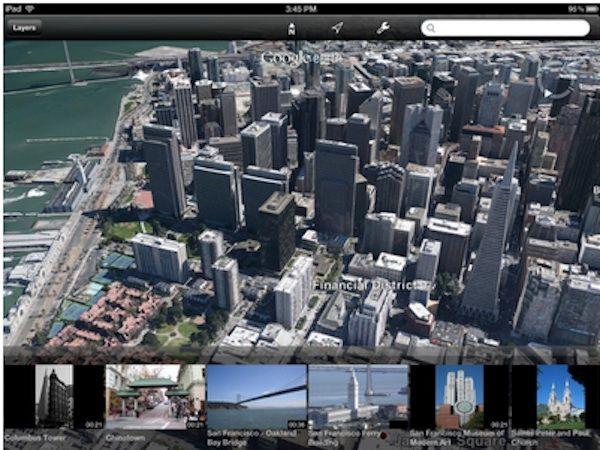 Google Earth met 3D-afbeeldingen op enkele iOS-apparaten