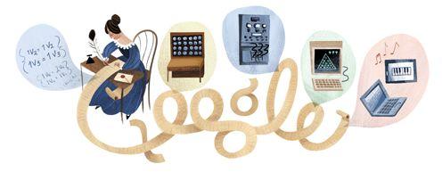 Google eert met Doodle de eerste computer programmeur Ada Lovelace