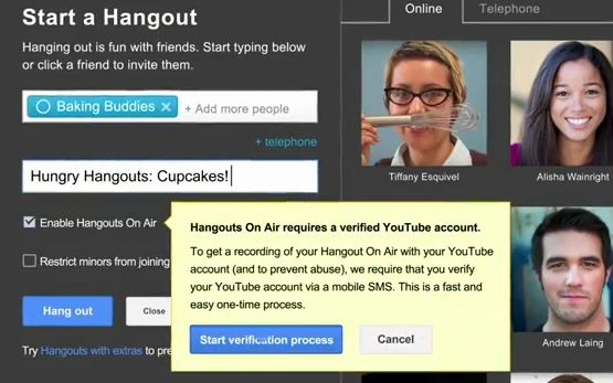 Google+ Hangouts On Air voor iedereen