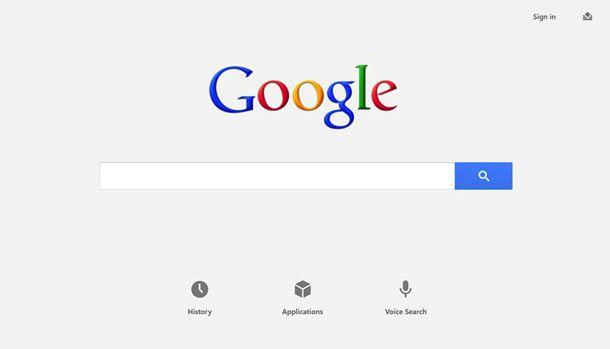 Google lanceert zoekapplicatie voor Windows 8