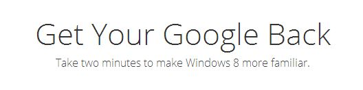 Google legt het uit: Google Search en Chrome in Windows 8