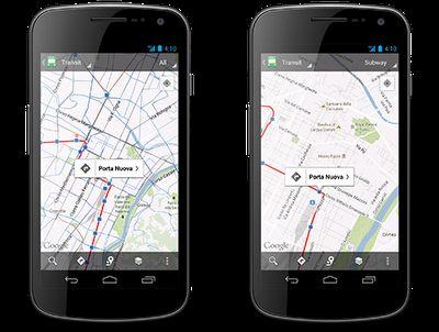 Google Maps heeft steeds uitgebreidere ov-schema's