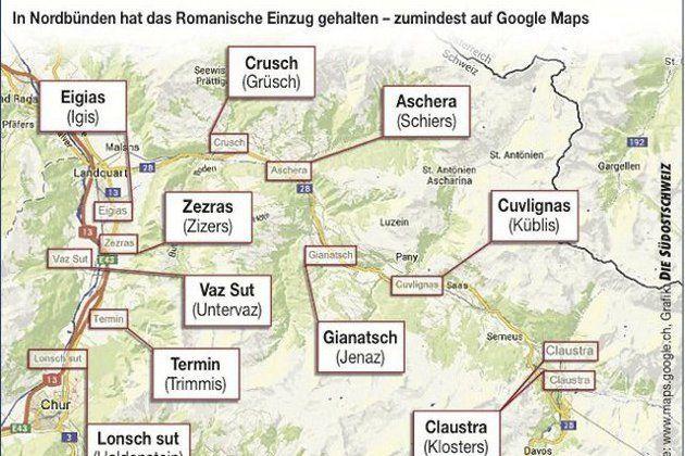 Google Maps in de war in Graubünden