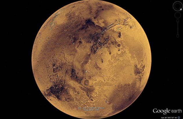 Google Mars beelden scherper dan beelden van Google Earth