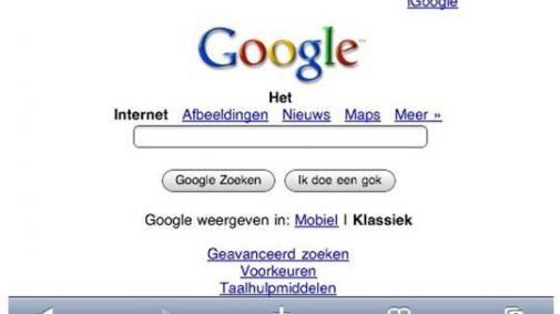 Google Mobile op de iPhone?