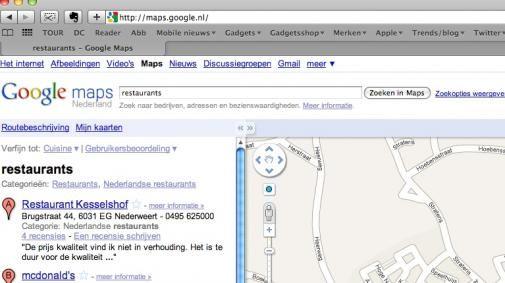 Google My Location on desktop