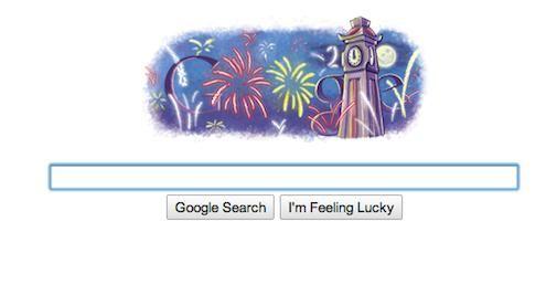 Google Newyear's Easter Egg