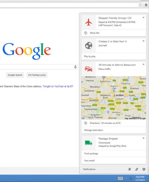 Google NOW beschikbaar in Chrome Beta in Android, iOs en Windows