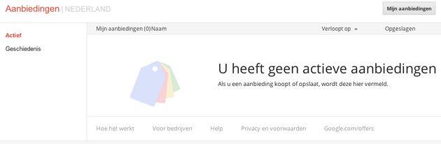 Google Offers mogelijk snel in Nederland beschikbaar