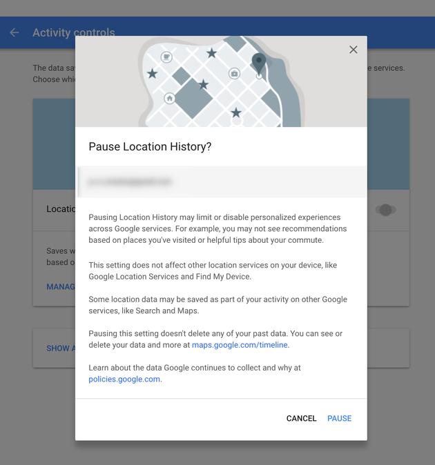 google-pauze-settings