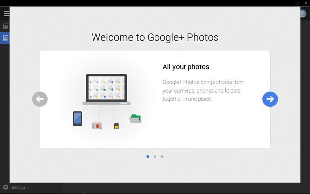 Google+ Photo app voor Chrome aanstaande
