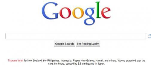 Google's Tsunami alert