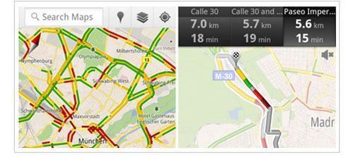 Google's verkeersinfo nu ook in Nederland