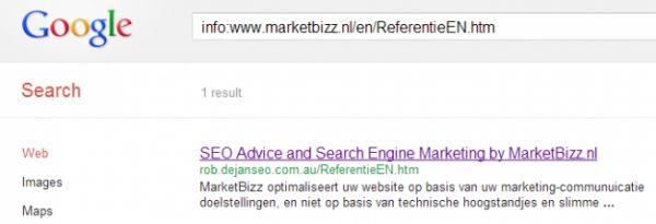 Google Search hijacken met dubbele resultaten