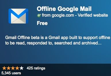 Google stelt Gmail, Calendar en Docs offline beschikbaar