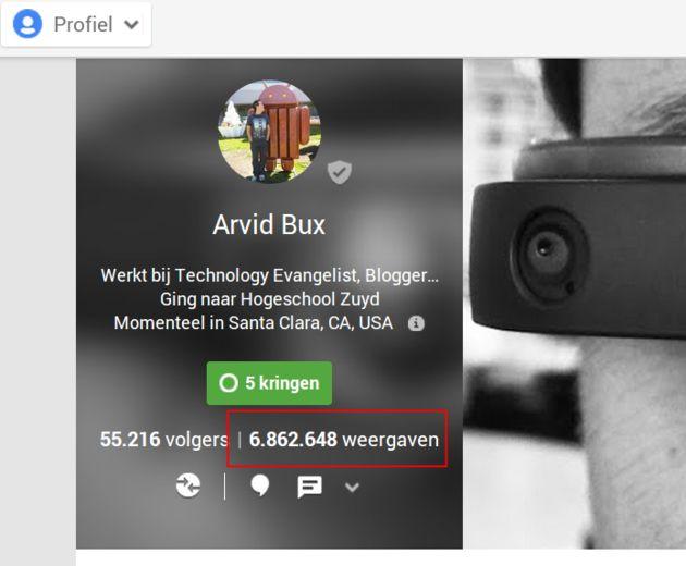 Google+ toont hoe vaak je content is gezien