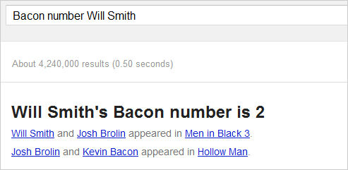 Google voegt 'Six Degrees of Kevin Bacon' toe als Easter Egg