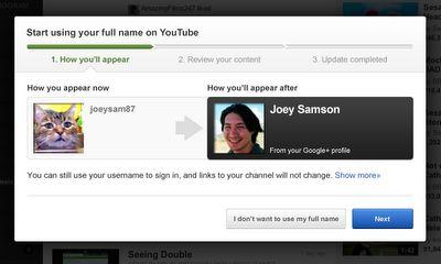 Google vraagt YouTube-gebruikers om eigen naam
