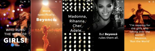 Google Web Stories USA Today Beyonce