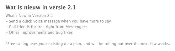 Gratis bellen met Facebook Messenger