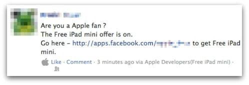 'Gratis iPad Mini' op Facebook leidt naar malware