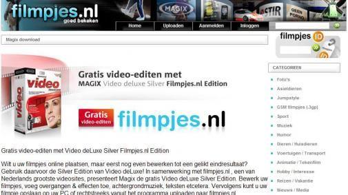 Gratis videobewerkingssoftware via Filmpjes.nl