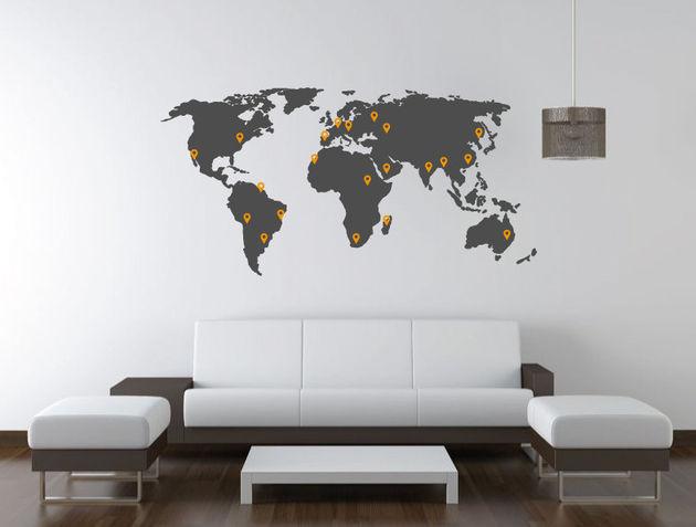 De 10 mooiste wereldkaarten - Mapamundi pared ikea ...