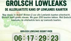 Grolsch start met Lowleaks en geeft nog 200 Lowlands kaarten weg